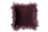 Cushion Feathers Polyester Purple