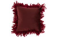 Cushion Feathers Polyester Maroon