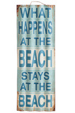 Schild Beach Metall Blau