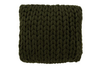 Cushion Knitted Acrylic Green