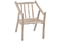 Chair Branches Wood Natural