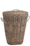 Basket With Lid Handle Oval Willow