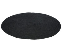 Carpet Round Jute Black