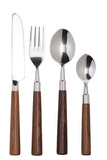 Box Cutlery 24 Pieces Metal/Wood