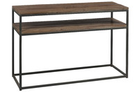 Console Wood/Metal Brown+Black