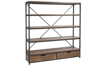 Rack 2 Drawers Wood/Metal