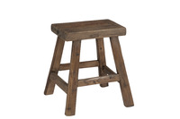 Stool Square Wood Brown