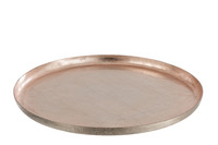 Tray Metal Laquer Light Pink