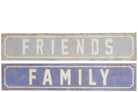 Placard Family/Friends Metal