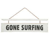 Placard Gone Surfing Wood