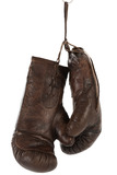 Boxing Gloves Leather Brown