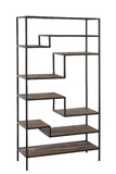 Rack 6 Shelves Metal/Wood