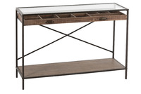 Console Drawer Divide Wood/Metal