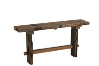 Console Rough Recycled Wood Brown