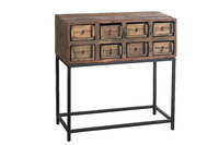 Console 8drawers Rough Recycled