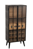 Bar Cabinet 1 Drawer Wood/Glass