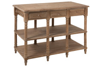 Console 6 Drawers Wood Natural