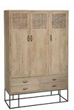 Cabinet 3doors+4drawers Woven Reed
