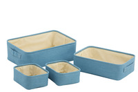 Set Of 4 Baskets Rectangular