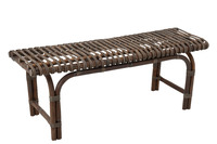 Bench 2p Rattan Brown