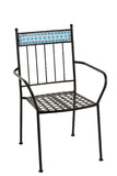Chair Mosaic Metal/Ceramic Blue
