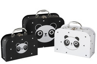 Set Of 3 Trunks Panda Paper