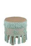Hassock Fringe Cotton Mint