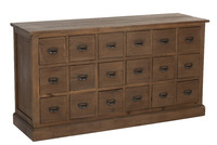 Commode 18 Drawers Wood Brown