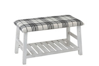 Bench Wood/Textile White/Black