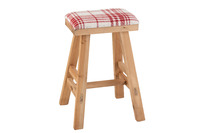 Stool Rectangle Wood/Textile