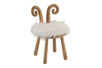 Chair Ears Sheep Wood Natural