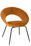 Chair Round Metal/Textile Ochre