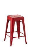 Stool Bistro Metal Red