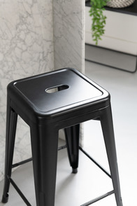 Stool Bistro Metal Black