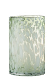 Hurricane Speck Glass Green/White