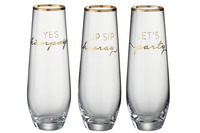 Drinking Glass Text English Rim