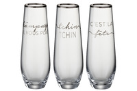 Drinking Glass Text French Rim