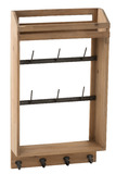 Key Rack+Coat Rack Wood Natural