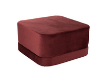 Hassock Square Low Velvet Red