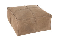 Hassock Stiching Square Leather