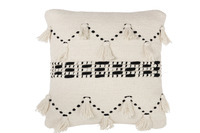 Cushion Tassel Cotton Black/Cream